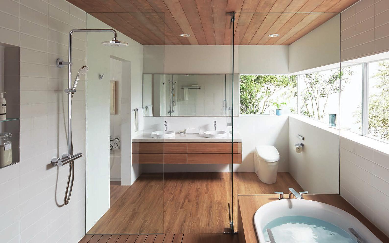 シャワーバー施工例