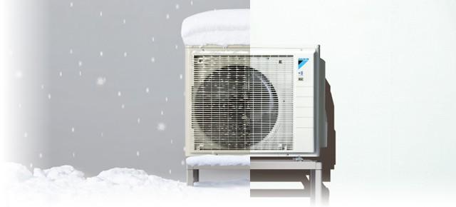 寒冷地エアコンの室外機