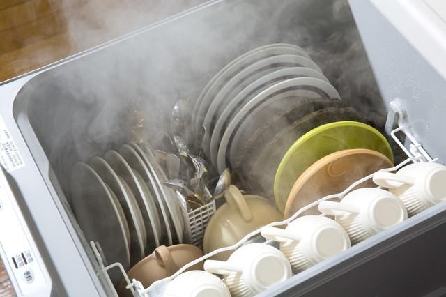 食洗機の湯気