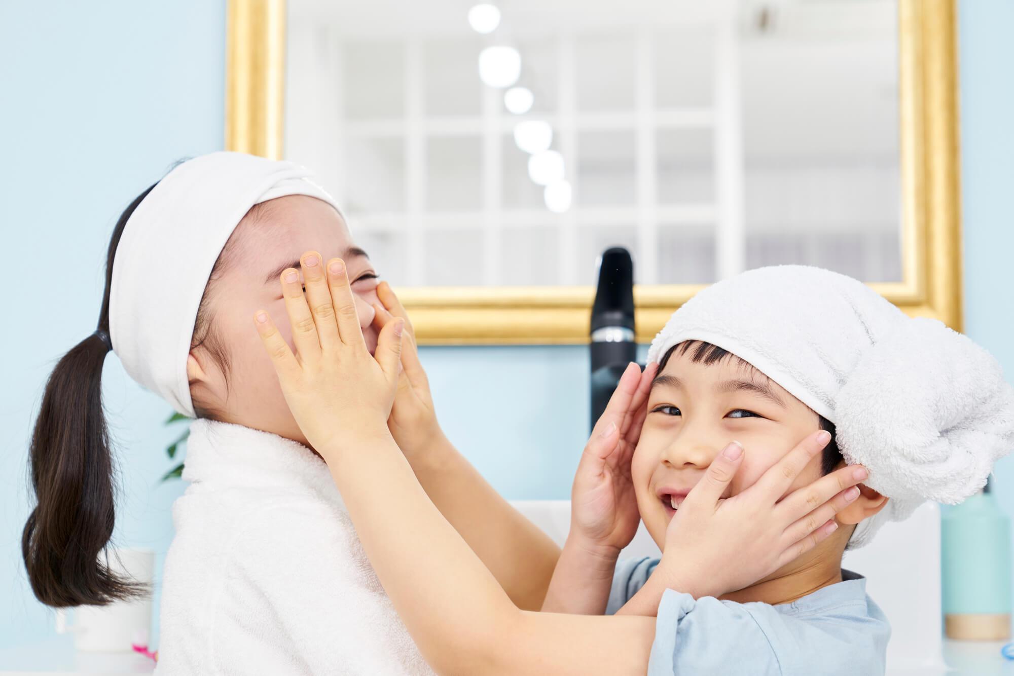 洗面化粧台の朝の身支度
